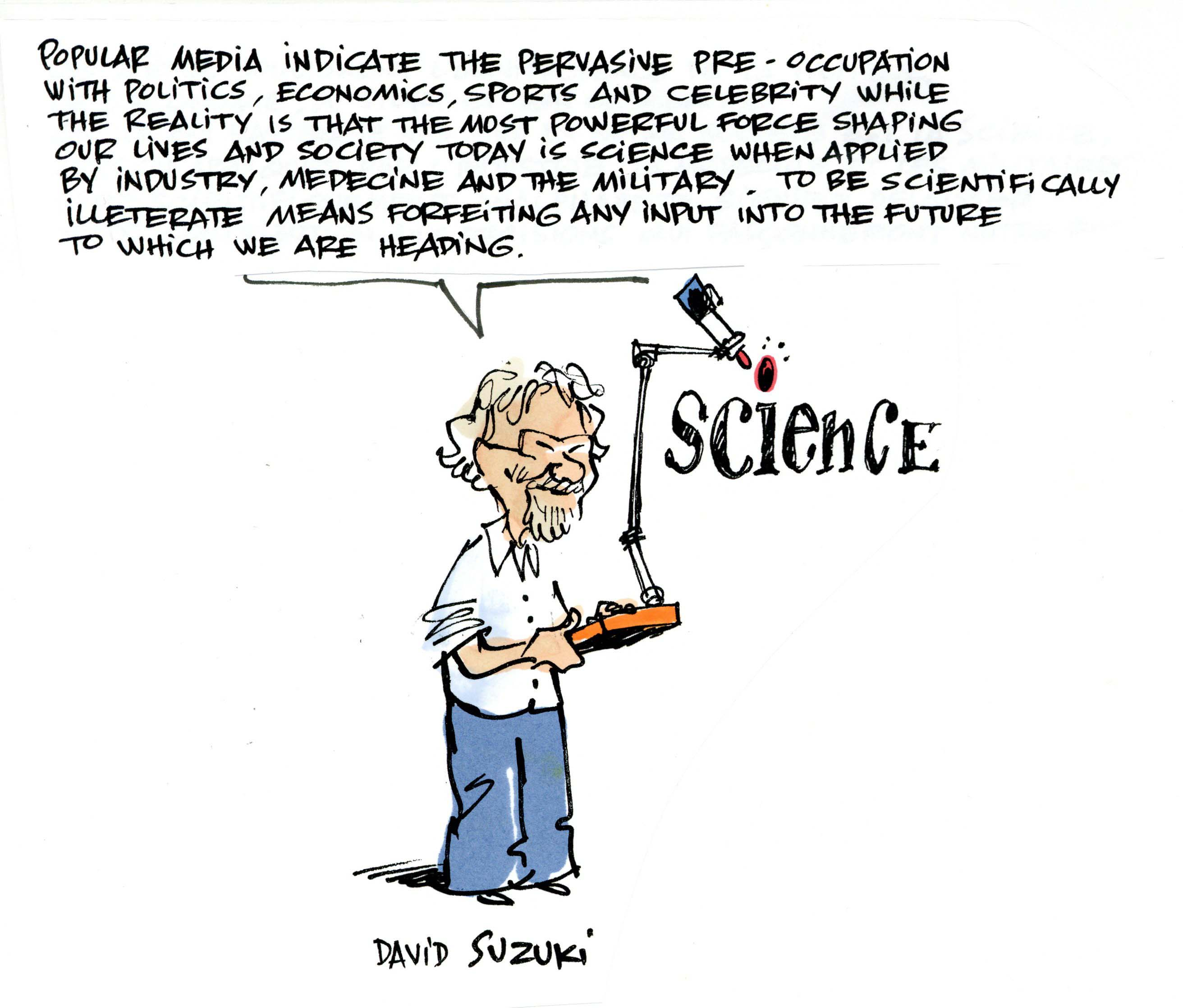 David Suzuki image by Jacques Goldstyn