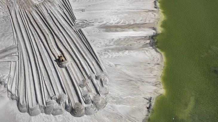 Phosphorus tailings pond, near Lakeland, Florida. Image courtesy of the Nicholas Metivier Gallery
